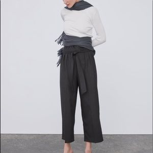 Zara Cropped Wide Pant